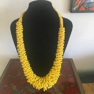 Jewelry - Bright Yellow Beaded Tribal Necklace